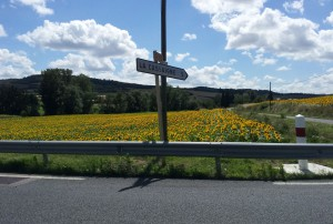 D623 forking off to D15 towards La Cassaigne, about 18km to Castelnaudary.